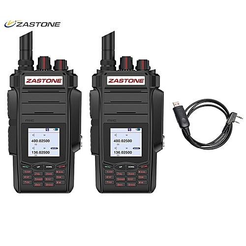 7c5d1ff65 Generic 2PCS Professional Two way Radio Portable Walkie Talkie UHF VHF 10W  Radio 2800mAh 999CH Ham Radio Communicator telsiz A19 ObeyQ