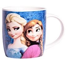 White Ceramic Mug Branded Frozen