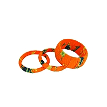 Orange Tie And Dye Bangles