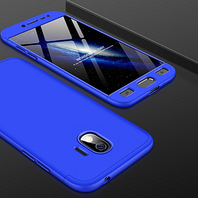buy online 1b131 14e16 360 Degree 3 in 1 Full Body Protection Cover Case For Samsung Galaxy J2 Pro  2018 Hard PC Shell Case