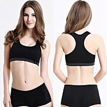 Women Padded Bra Top Athletic Vest Fitness Sports Yoga Stretch Bra BK/M-Black M