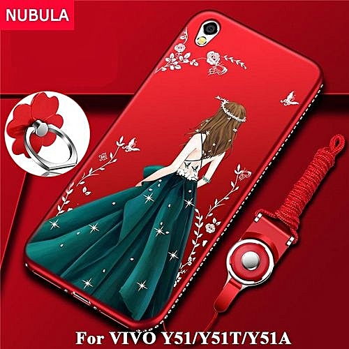 online retailer f2d91 27c01 Back Cover For VIVO Y51 / Y51T / Y51A Pretty Diamond Ultra-thin TPU  Protection Phone Case Shockproof Case With Phone Rope And Metal Ring 831035  ...
