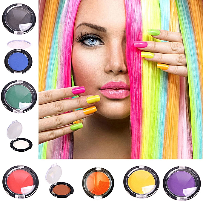 Hair Color Temporary Hair Dye Chalk Compact Candy Color Pressed Powder Hair  Coloring Cream Temporary Modeling Dye Hair (1)