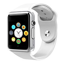 TA-Smart Watch Bluetooth SIM Card GPRS Watch Health Tracker Pedometer Watch*White
