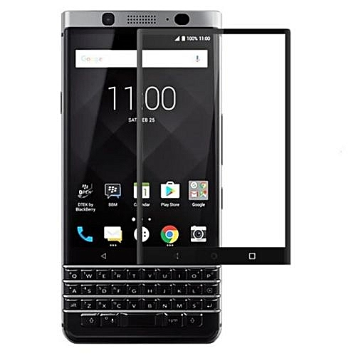 Full Covered Curved Tempered Glass Screen Protector For BlackBerry Keyone (Black)