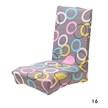 Assorted Patterns Household Antifouling Removable Stretch Elastic Slipcovers Short Dining Room Stool Chair Seat Covers