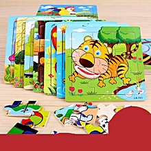 3 Sets x Wooden Early Education Learning Toys 9pcs Puzzles For Children Kids Toddlers