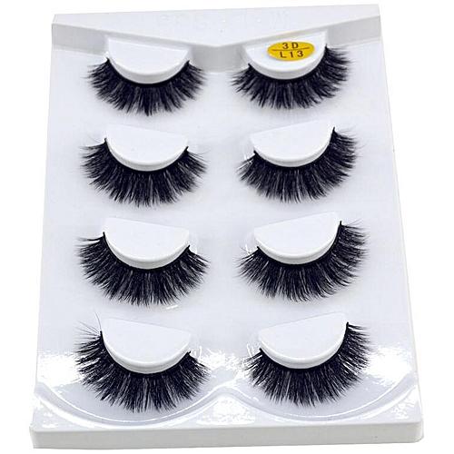 ccdf90d55e3 Generic New 2/4/7 pairs natural false eyelashes fake lashes long makeup 3d  mink lashes eyeextension mink eyelashes for beauty 06(4 Pairs L13)