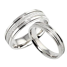 Steel High Quality Couple Wedding Rings