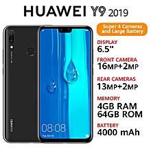 """Y9(2019) - 6.5"""" - 64GB - 4GB RAM - 16MP+2MP(Dual SIM) - Black"""