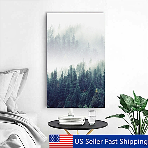 Modern Abstract Forest Tree Canvas Print Art Painting Home Wall Decor  Unframed- Multi