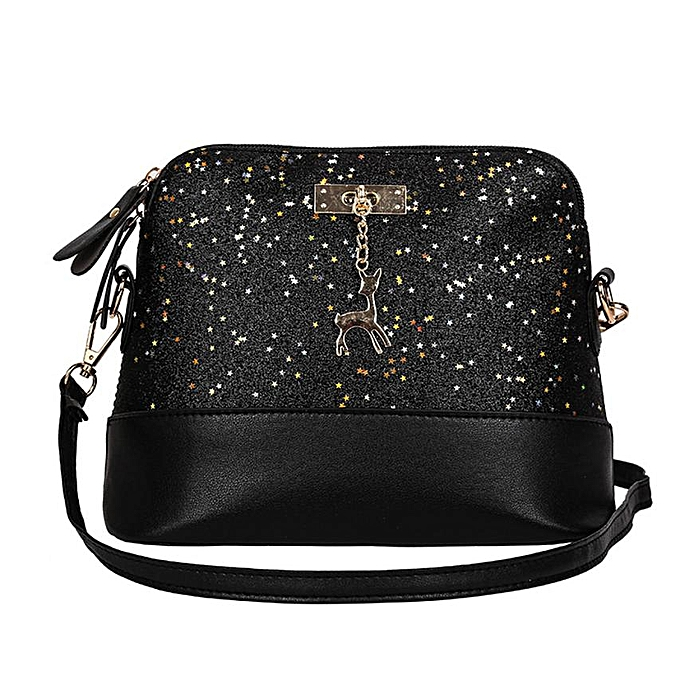 9272b78fa8c Hot Sale New Fashion Women Leather Deer Splice Shell Shape Bag Mini  Shoulder Crossbody Bags Tote designer handbags high quality(C)