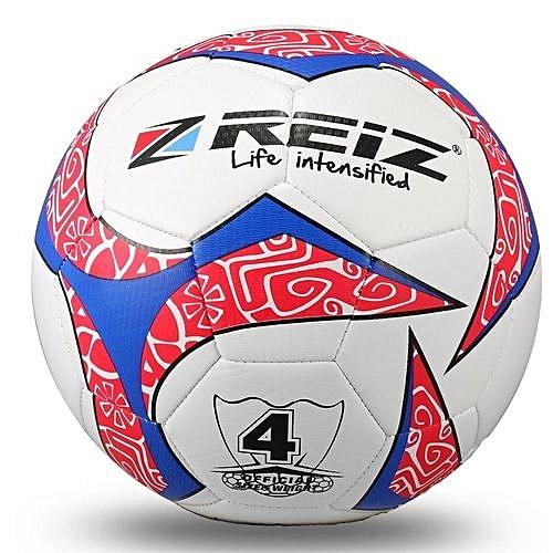UJ REIZ 20CM Circumference Hit Color Football Balls Match Training Soccer Ball-white & Red & Blue-white & Red & Blue