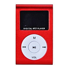 MP3 Player With Display and FM Radio - Red