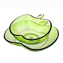 RF7185 - 2 Pieces Apple Snack Bowl Set - Green
