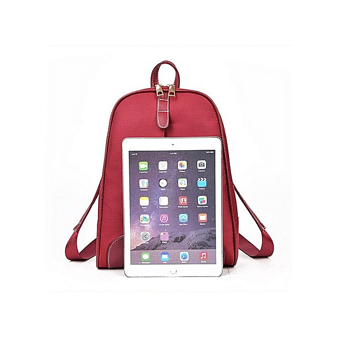 cf0ec9fe493d ... Zetenis Women Girl Rucksack Shoulder Bookbags School Bag Satchel Travel  Leather Backpack -Red