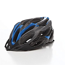 Bicycle Helmet Bike Cycling Adult Adjustable Unisex Safety Equipment With Visor - Blue + Black