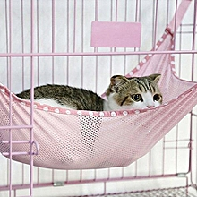 Breathable Mesh Cloth Hammock Hanging Bed For Pet S (Pink)
