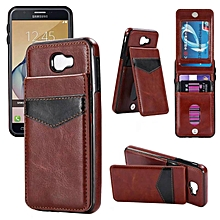 Shockproof Leather Case with Card Holder Premium PU Leather Kickstand Magnetic Clasp Durable Wallet Case Cover for Samsung Galaxy J5 Prime   XXZ-Z