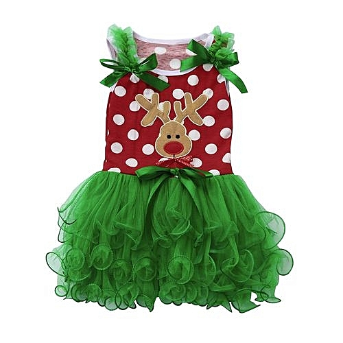 6240a01be Eissely Toddler Kids Baby Girls Tutu Princess Deer Christmas Outfits ...