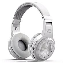 Bluedio HT Bluetooth Wireless On-Ear Headphone + Mic (White) JY-M