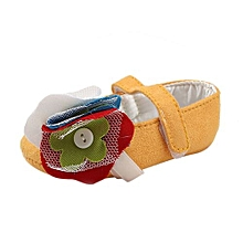 bluerdream-Toddler Girl Soft Sole Crib Shoes Sneaker Baby Shoes YE/11-Yellow