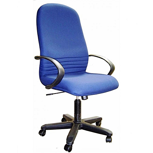 cloth office chairs. High Back Fabric Office Chair - Blue Cloth Chairs C