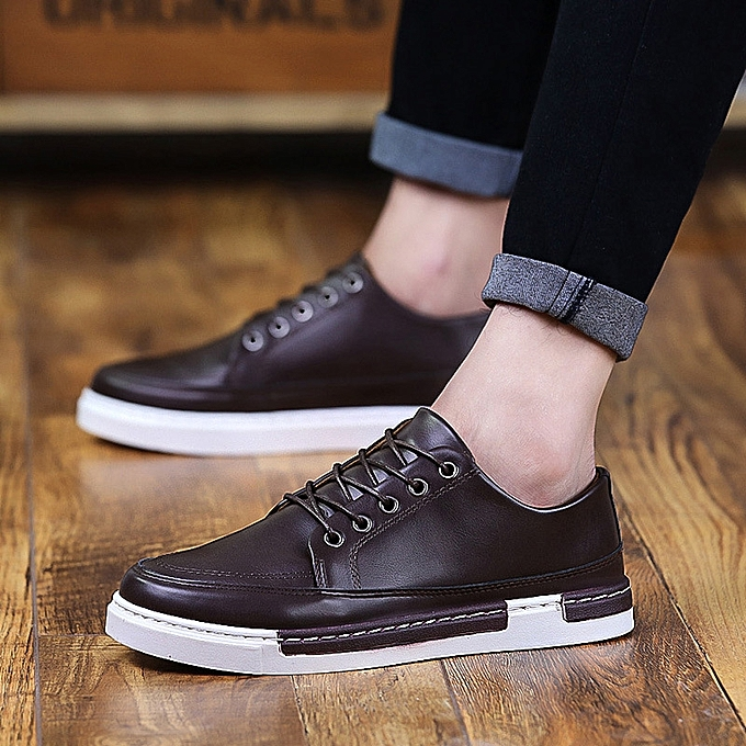 Realistic Men Leather Shoes Summer Casual Flats Sneakers Male Spring Footwear Black Fashion Men Casual Shoes Skateboarding Flats Shoes Orders Are Welcome. Shoes Men's Shoes