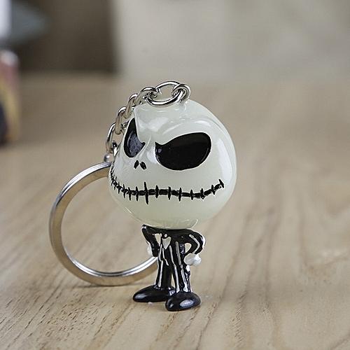 Cool Skeleton Keychain Illuminated At Night Funny Toy Christmas Eve Gift - One Size