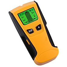 LCD Display Stud Center Finder Metal / AC Live Wire Detector - Yellow
