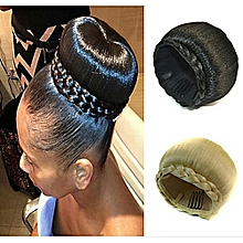 Hair Bun Hair Extension - Black + Free gift Inside!
