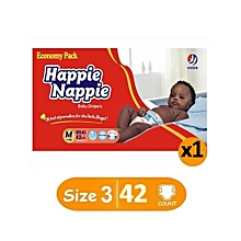 Economy Packet - Medium : Size 3 (5-10Kgs) - (x1) Count 42 diapers