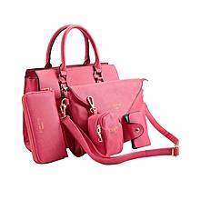 5 in 1 Handbag Set - Pink