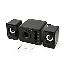 SADA D-205 USB 2.1 Stereo Computer Speaker with Subwoofer for PC Gaming System Black