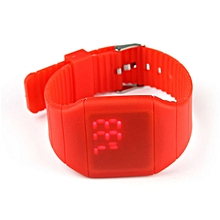 Waterproof Mens Womens Digital LED Touch Sports Silicone Bracelet Wrist Watch R
