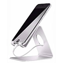 Phone Stand, iPhone Stand : Desktop Cradle, Dock For Switch, all Android Smartphone, iPhone 6 6s 7 8 X Plus 5 5s 5c charging, Universal Accessories Desk - Silver