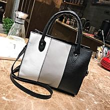 Duanxinyv-Woman Tote Casual Bags Crossbody Bag Hit color Leather Handbag Shoulder Bag