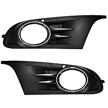 Pair Front Bumper Lower Fog Light Grille Cover For VW GOLF MK6 SEL TDI TSI Jetta