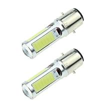 2PC White LED Motor Bike/Moped Headlight Bulb Fog Light DRL BA20D H6 E301