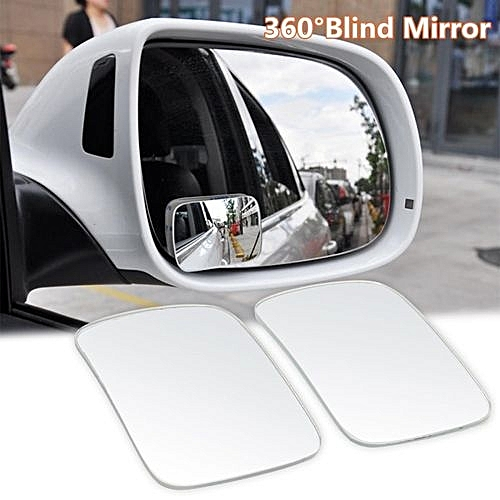 2pcs 360 Car Truck Blind Spot Mirror Wide Angle Convex Rear Side View Universal