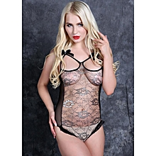 Sexy Hot Black Underwear Lace Babydoll Lingerie Sleepwear Open Bra Crotch Women