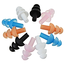 Silicone Swimming Ear Plugs Waterproof Diving Earplugs White