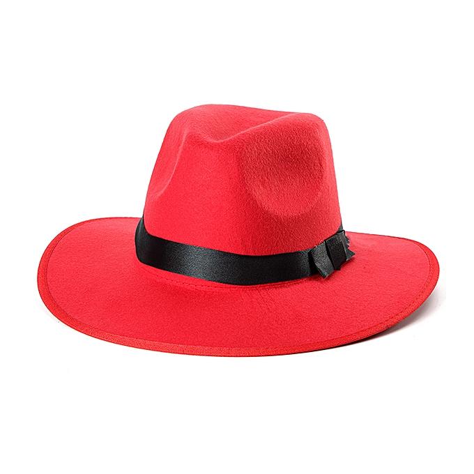 5a5363dd2a8 Women ladies Cotton Blend Jazz Felt Fedora Cap Wide Brim Bowler Trilby  Panama Hat