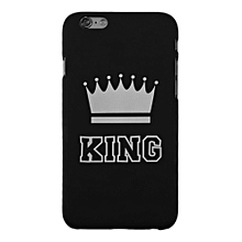 Fashion KING QUEEN Lovers Mobile Phone PC Hard Scrub Case Suitable For iPhone