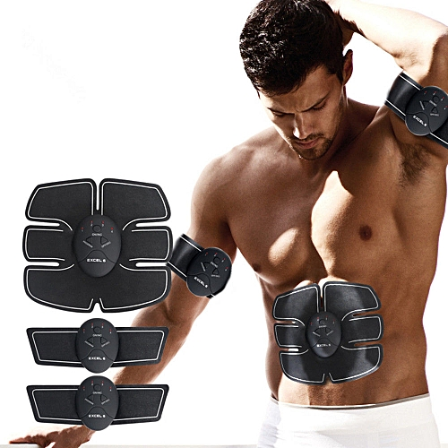 Slimming Belt Abdominal Muscles Trainer Power fit Vibration Plate ab  Abdominal Muscle Stimulator Body Massager EMS Stimulation(jfq)