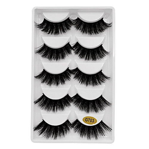 a33dbbbf839 Generic 5 Pair 3D Natural Thick False Fake Eyelashes Eye Lashes Makeup  Extension