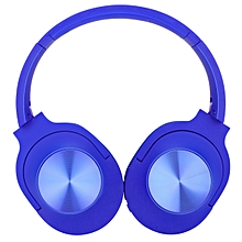 Bluetooth Foldable Headphone 40mm Heavy Bass FM Mode Excellent Apperence - Blue