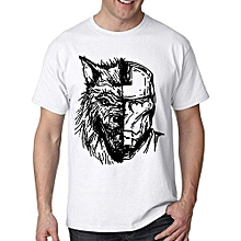 Fashion Game Of Thrones Wolf Stark Ironman For Men T Shirt Printed Mens T-shirt Funny  Tees