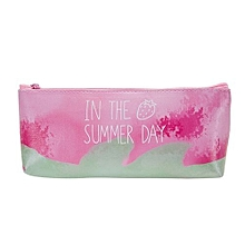 bluerdream-Cute Cartoon Stationery Pencil Pen Case Cosmetic Makeup Bag Zipper Pouch Case A-Pink
