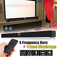 60W Wireless Bluetooth 3D Sound Bar Soundbar 8 Speaker FM Radio Home TV Theater